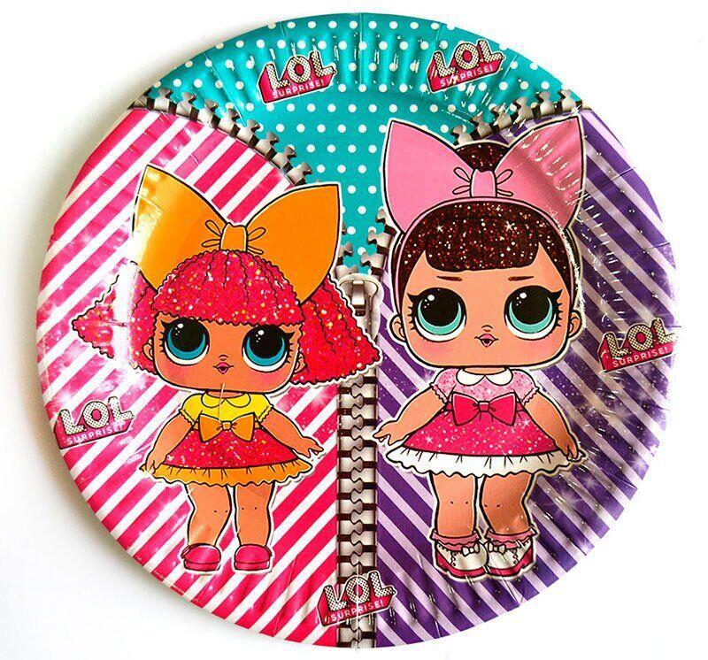 "Тарелки ""Куклы LOL"" (18,0 см)(10шт-уп)"