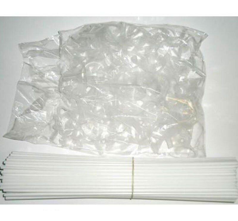Палочки для воздушных шаров (белые) 100 шт