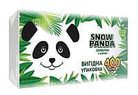 Салфетки бумажные столовые Снежная Панда 24*24 белые 1ш 400шт