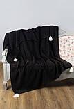 """Плед-накидка Barine """"PonPon Throw Black"""", фото 2"""