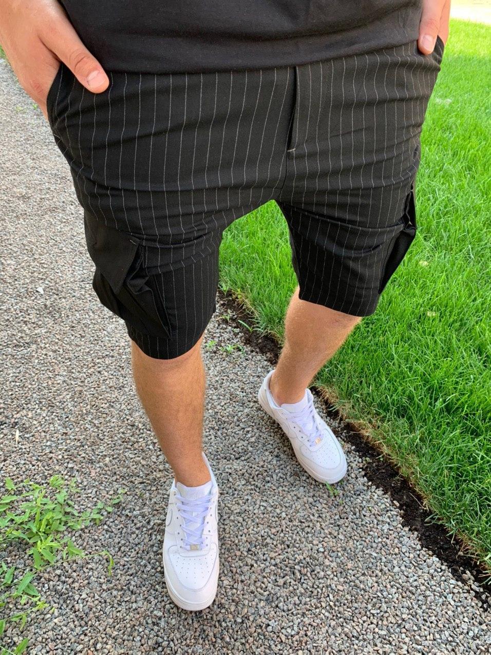 😜 Шорты - Мужские брючные шорты в полоску