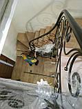 Кованые перила для лестницы. Кована огорожа сходів., фото 2