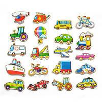 """Набір магнітних фігурок Viga Toys """"Транспорт"""" 20 шт. (58924)"""