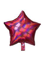 Звезда голограмма красная (43*43см)