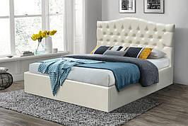 Ліжко двоспальне м'яка з підйомним механізмом (або без) Домініка Мікс меблі, колір білий