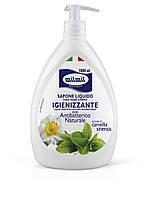 Жидкое мыло для рук MilMil sapone liquido antibatterico антибактериальное Камелия с дозатором, 1000 мл