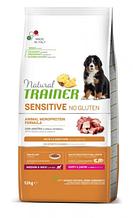 Корм Trainer Dog SENSITIVE (Трейнер Сенситів) Puppy Junior Medium Maxi With Duck Rice Oil для цуценят середніх і великих порід качка з рисом, 12 кг