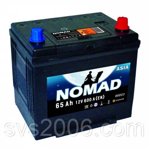 АКБ 6СТ-65 R+ (пт 560)(не обслуж)(азия) NOMAD