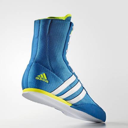 Обувь для бокса (боксерки) Adidas Box Hog 2 (голубые, AQ3404), фото 2