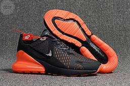 Мужские кроссовки Nike Air Max 270 Cauchuk Flair Black/Orange Оригинал