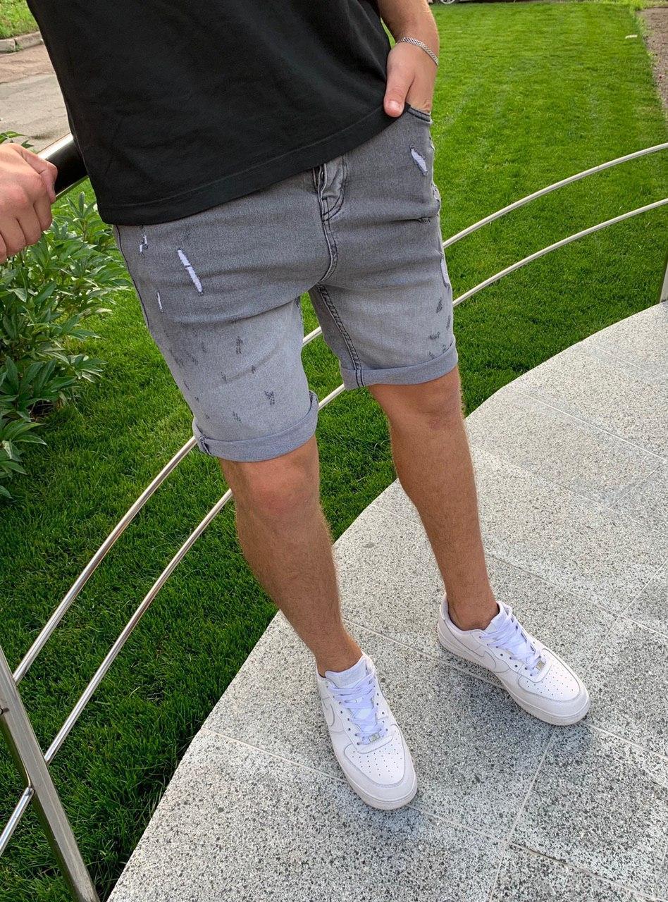 😜 Шорты - Мужские шорты светло-серые хлопок