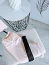 Синди женский спортивный костюм футболка оверсайз бриджи велосипедки L-ка бежевый, фото 2