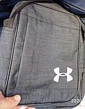 Сумка Текстиль мужская через плечо Барсетка Мессенджер. Серый, синий, фото 4