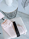Синди женский спортивный костюм футболка оверсайз бриджи велосипедки С-ка бежевый, фото 3