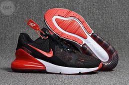 Мужские кроссовки Nike Air Max 270 Cauchuk Flair Black/Red Оригинал