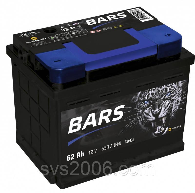 АКБ 6СТ-62 R+ (пт 550) BARS