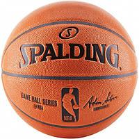 Мяч баскетбольный Spalding NBA Game Ball R Indoor-Outdoor размер 7 композитная кожа для улицы-зала