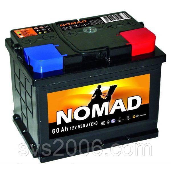 АКБ 6СТ-60 R+ (пт 530) NOMAD