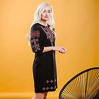 Украинское вышитое платье Черное ЕтноМодерн M-1033
