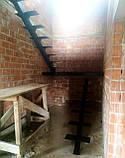 Каркас лестницы на монокосоуре. Лестница на центральной несущей., фото 2