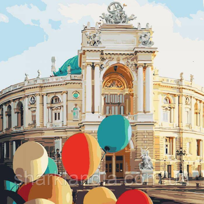 Картина по номерам Жемчужина у моря Одесса Театр 40*40см KHO3501