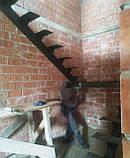Каркас лестницы на монокосоуре. Лестница на центральной несущей., фото 4