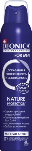 Deonica FOR MEN Nature Protection Антиперспирант 200 мл.