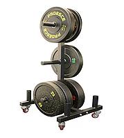 Подставка (стойка) для блинов (дисков) на колесах RN-Sport (металл, р-р 66х61х127см)