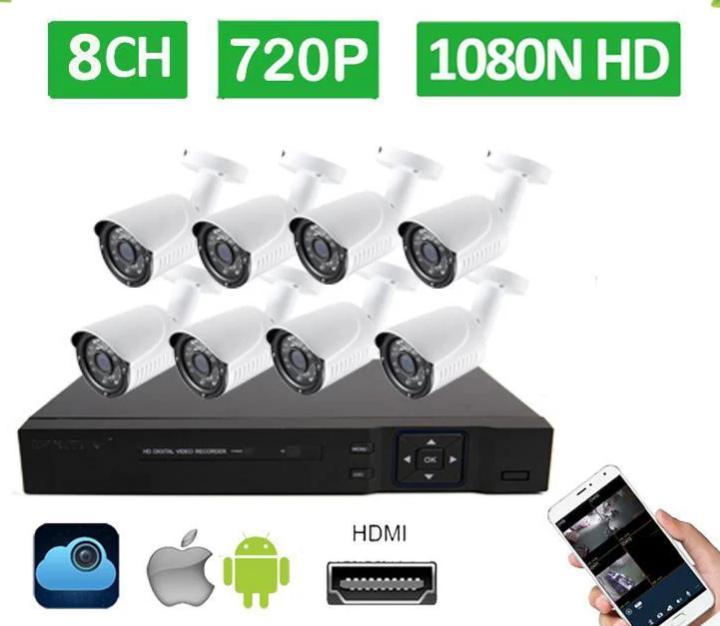 Видеорегистратор DVR KIT HD720 8-канальный (8 камер в комплекте)