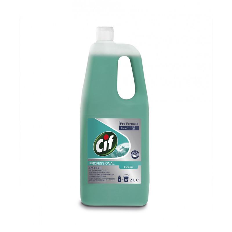 Cif Pro Formula Oxy-Gel Ocean для очистки поверхностей на основе активного кислорода, 2 л