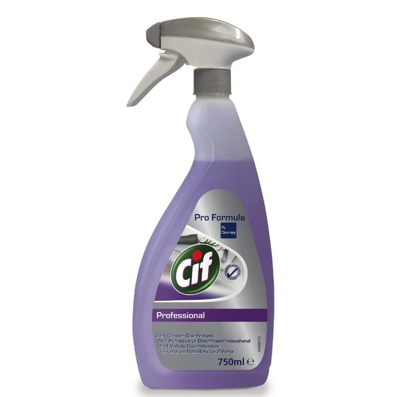 Cif Professional 2in1 Cleaner and Disinfectant для мытья и дезинфекции поверхностей, 750 мл