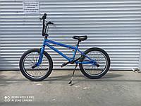 """Трюковый велосипед Crosser 20""""  BMX  на  85% собран.в коробке шикарный  цвет МЕТАЛЛИК СИНИЙ + ПОДАРОК!"""