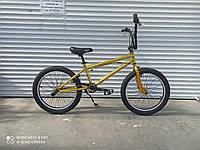 """Трюковый велосипед Crosser 20""""  BMX  на  85% собран.в коробке шикарный  цветЗОЛОТОЙ!  + ПОДАРОК!"""