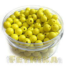 Бусины пластиковые лимонные 8 мм