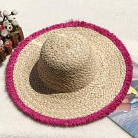 Женская соломенная шляпа. Большой выбор цветов! Модель А-8, фото 4