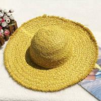 Женская соломенная шляпа. Большой выбор цветов! Модель А-8, фото 10