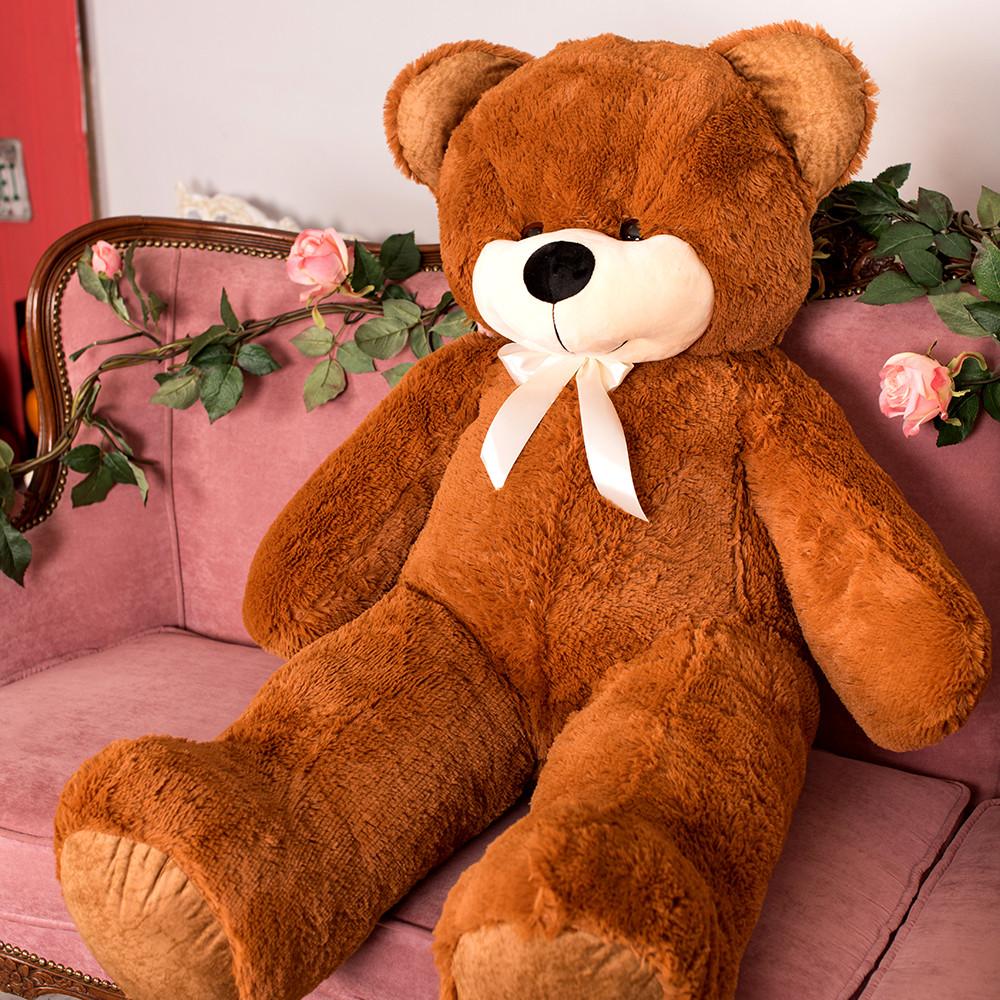 Большой плюшевый медведь Фокси, 130 см, коричневый