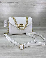 Белая женская сумка через плечо мини летняя молодежная кросс-боди 61600, фото 1