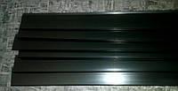Профиль ценовой черный 1000 мм DBR39 (ценникодержатели для стеллажа, ценовая планка черная)