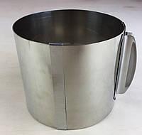 Раздвижное кольцо для выпечки ( 12 СМ ДО 20 СМ ВЫСОТА 10 СМ).