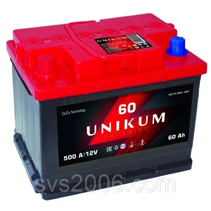 АКБ 6СТ-60 L+ (пт 480) UNIKUM
