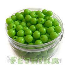 Бусины пластиковые салатовые 8 мм