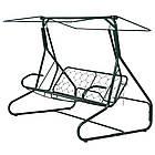 Садовая качеля 3-х местная Релакс с козырьком + кресло-качалка, фото 4