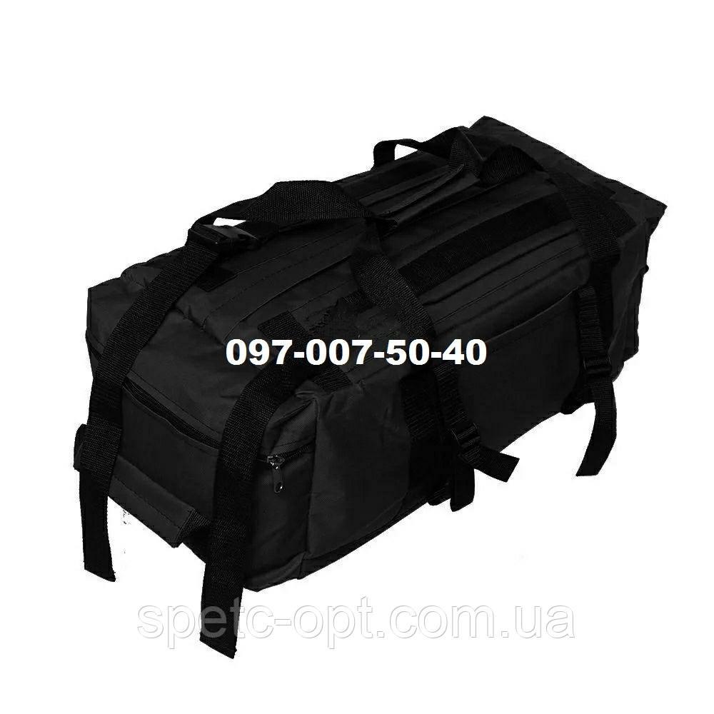 Сумка- рюкзак тактический Oxford 800г/м² на 40л. (Черная)