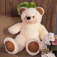 Мягкая игрушка большой плюшевый мишка медведь Фокси, 100 см, кремовый