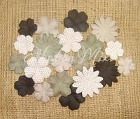 Набор цветов Dovecraft Paper Blossoms - Charcoal
