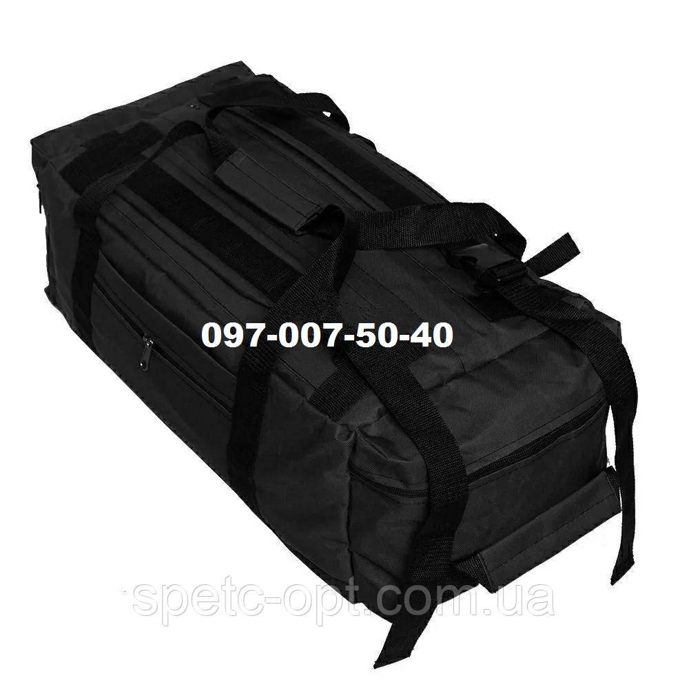 Сумка-рюкзак тактический Oxford 800г/м² на 60л. (Черная)