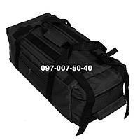 Сумка-рюкзак тактический Oxford 800г/м² на 60л. (Черная), фото 1