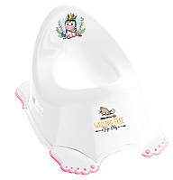 624777 Горшок Tega Wild & Free Unicorn DZ-001 нескользящая 103 white-pink