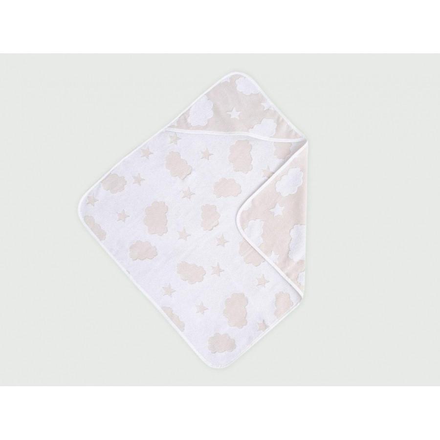 Уголок для купания Irya - Cloud Kundak 75*75 Розовый Бежевый